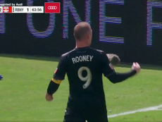 Rooney scored a screamer with his weaker foot. Twitter/MLS