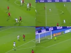 Salah se estrenó en la Copa África culminando una maravilla de 'Trezeguet'. Captura/beIN Sports