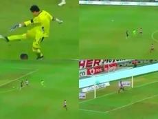 San Luis logró el gol loco de la jornada... ¡de portería a portería! Captura/TUDN
