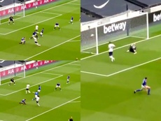 Tottenham took the lead after some good fortune. Capturas/DAZN
