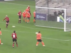 El United femenino anotó un gran gol al primer toque. Twitter/ManUtdWomen