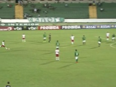 Golaço de falta de Pio do RB Brasil contra o Guarani. Captura