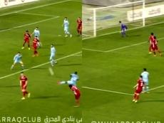 Abdo metió un golazo. Capturas/Al Muharraq