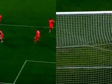 Dybala marcó un golazo. Capturas/DAZN