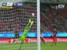 Primer doblete del joven jugador de Chivas. Twitter/TDN