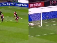 Trincao marcó un golazo. Captura/Eurosport