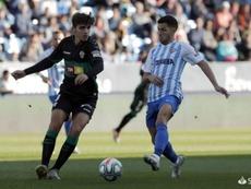 El Málaga le empató por dos veces al Elche. EFE