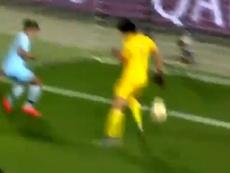 Chile se puso por delante con un gol en propia. Captura