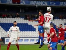 El Sevilla gana al Bergantiños. Twitter/SevillaFC