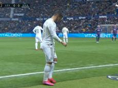 Hazard volvió a lesionarse ante el Levante. Captura/MovistarLaLiga