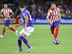 Héctor Herrera se quedó sin debutar en Liga. Twitter/Atleti
