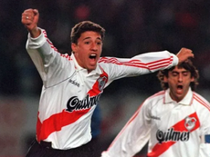 Hernán Crespo, el héroe de River de 1996. AFP
