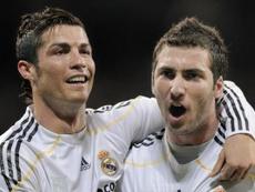 Higuaín e Cristiano podem voltar a jogar juntos. Twitter