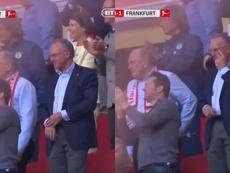 Las lágrimas de Hoeness y Rummenigge con el gol de Ribéry. Capturas/GMS_Football