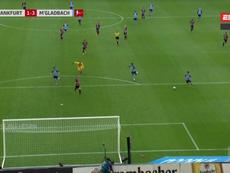 El clamoroso fallo de Hofmann con dos compañeros y solo ante un defensa. Captura/ESPN2