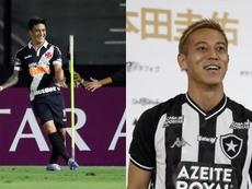 De companheiros a rivais, Honda e Cano já jogaram Mundial de Clubes juntos. EFE/Marcelo Sayão