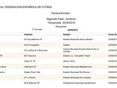 Horarios de las finales del 'play off' de ascenso a Segunda B. RFEF