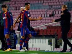 Sergio Busquets has sprained his knee. EFE/Archivo