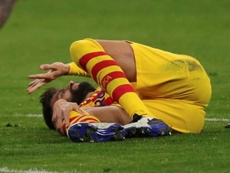 Pique has suffered a serious ligament sprain. EFE