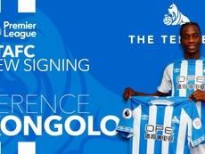 El Huddersfield se ha quedado con Terence Kongolo. Twitter/ HTAFCdotcom