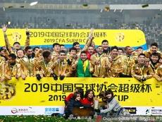Hulk, Oscar e Elkeson conquistam a Supercopa da China. Twitter @josedavidlopez_