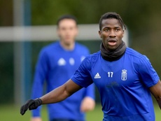 Baldé left Senegal when he as just 16 and now features for Real Oviedo. Twitter/RealOviedo