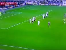 El portero del Torino casi marca el gol de la jornada. Captura/Rai2