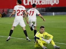Idrissi mostró sus cualidades en pocos minutos ante el Celta. EFE