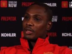 Ighalo confie avoir baissé son salaire pour rejoindre Manchester United. Capture/Twitter/ManUtd