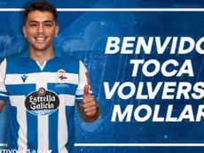 Ignacio González, nuevo jugador del Deportivo. Captura/RCDeportivo