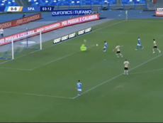 Il tridente del Napoli a segno contro la SPAL. BeinSport
