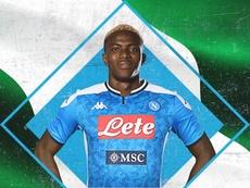 Osimhen assina com o Napoli até 2025. Twitter/SSCNapoli