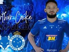 Arthur Caike jugará en Cruzeiro este curso. Twitter/Cruzeiro