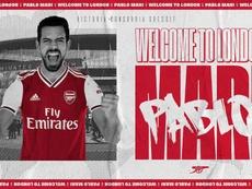 Pablo Marí llega cedido con opción de compra. Arsenal