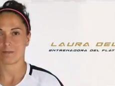 Laura del Río debutará como entrenadora dirigiendo al peculiar Flat Earth. Twitter/FlatEarth_FC