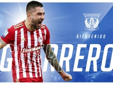 Guerrero vuelve a Butarque. Twitter/CDLeganes