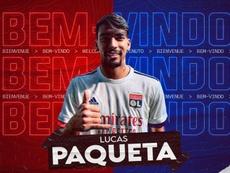 Lucas Paquetá foi emprestado pelo Milan ao Lyon. Twitter/OLTV_officiel