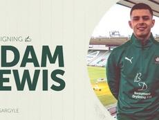 Adam Lewis buscará minutos de calidad en Plymouth. PAFC