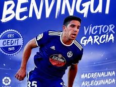 Víctor García jugará cedido en el Sabadell. Twitter/CESabadell