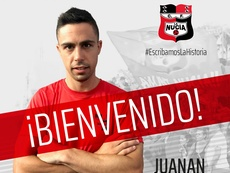 Juanan ha sido la última incorporación, hasta la fecha, de La Nucía. Twitter/cfnucia