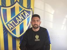 Alan Pérez cambia Boca Unidos por Atlanta. Twitter/atlantaoficial