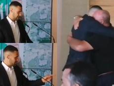 Pedraza lloró en plena presentación. Captura/EstadioDeportivo
