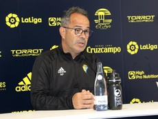 Cervera advirtió del peligro de Las Palmas con balón. Twitter/Cadiz_CF