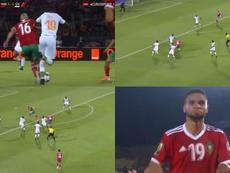 Um escandaloso Amrabat e um acertivo En-Nesyri. Captura/Eurosport