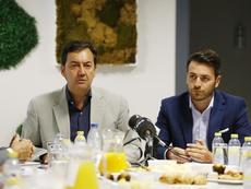 El director general del Granada explicó la remodelación sufrida por el club. Twitter/GranadaCdeF
