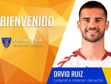 El Orihuela se lleva a David Ruiz. Twitter/Orihuela_CF