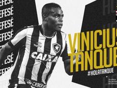 Vinicius Tanque viaja a Cartagena, su nuevo destino. Twitter/FCCartagena_efs
