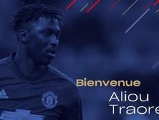 Aliou Traoré, nuevo jugador del Caen. Twitter/SMCaen