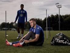 Borja Galán, entusiasmado por su nueva etapa. RCDeportivo
