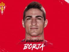 Borja López, nuevo jugador del Sporting. Twitter/RealSporting